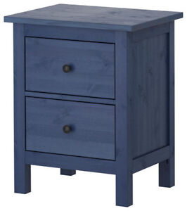 IKEA - Hemnes 2-Drawer Chest (x2) in discontinued Blue