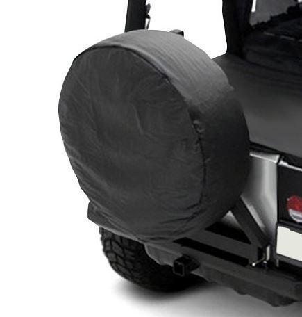 """Spare Tire Cover 30/""""-32/"""" Black for Jeep CJ Wrangler YJ TJ JK Rugged Ridge"""