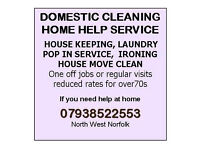 Domestic Cleaning House Keeping Home Help Hunstanton area