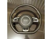 Audi a3 s3 rs3 a4 a5 flat bottom steering wheel