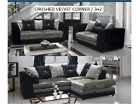 Crushed velvet sofas luxury and comfy