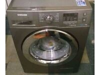 7KG GREY SAMSUNG ECOBUBBLE WASHING MACHINE, LED DISPLAY,