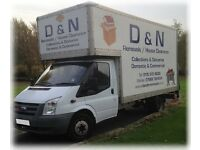***SHORT NOTICE HOUSE REMOVALS ** MAN WITH A VAN HIRE ** COLLECTION OR DELIVERY***