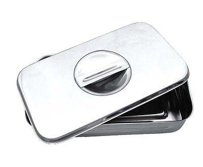 Instrumenten Box (Deckel u. Griff) Edelstahl Geschirr Fußpflege Aufbewahrung RF ()