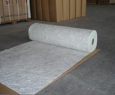 "fiberglass chopped strand mat 3/4oz , 0.75oz  30ft (10 Yards) long 50""  folded"