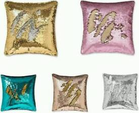 Two Colors Reversible Sequins Mermaid Pillow Cases 16 x 16