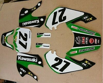 for KLX110 CRF50 Pitbike BBR KLX CRF Stickers Marzocchi Shiver Fork Decals Set