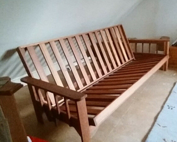 King Size Solid Hardwood Sofabed Futon Base In Good Condition