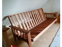 King size solid hardwood sofabed / futon base in good condition