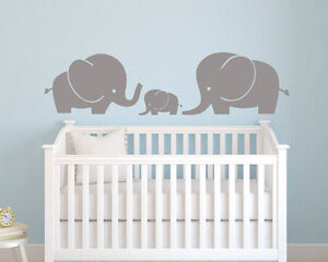 Elephant Family Decal for House or Nursery or Gift!