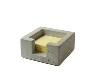 Concrete Post-it Note Holder Natural Handmade Modern Home Decor For Office