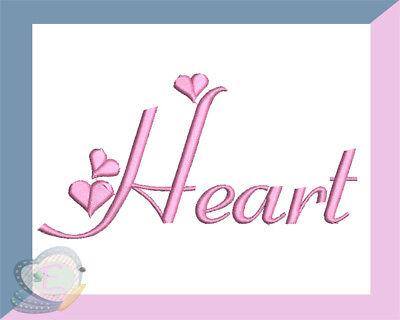 Heart Script Satin  Machine Embroidery Alphabet Monogram Fonts Designs