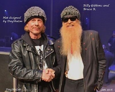 Billy Gibbons inspired hat ZZ Top Handmade DayShaLoo Nudu dreads ski chemo wig (Dreads Hats)