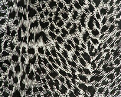 "Black Cheetah (Cheetah animal black faux leather Vinyl 54"" Wide upholstery bags shoes decor )"