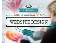 Custom Web Design including 12 months hosting only £60