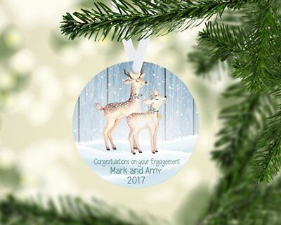 Congratulations on Your Engagement Personalized Christmas Ornament](Personalized Engagement Ornaments)
