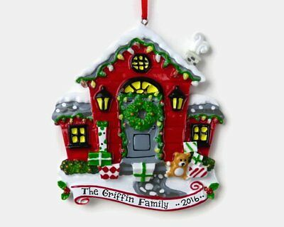 NAME PERSONALIZED Christmas ORNAMENT 2018 Red House Our New Home First Apartment