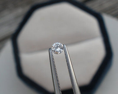 3mm White Natural Diamond Loose Faceted Round SI-1 Clarity