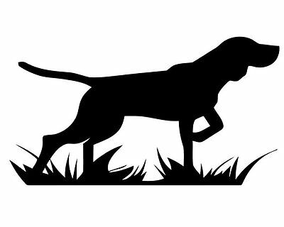 Bird Dog Sideview Pointer on Point! Vinyl Decal Sticker for Windows, Tailgates..