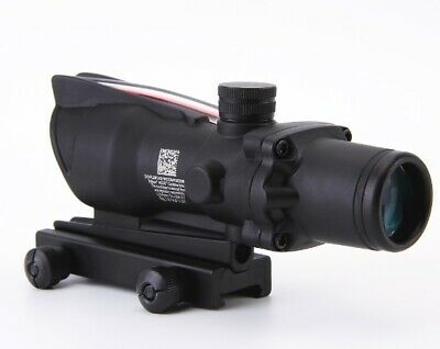 CLONE ACOG 4X32 Fiber Source Red Illuminated Scope black color Tactical Hunting