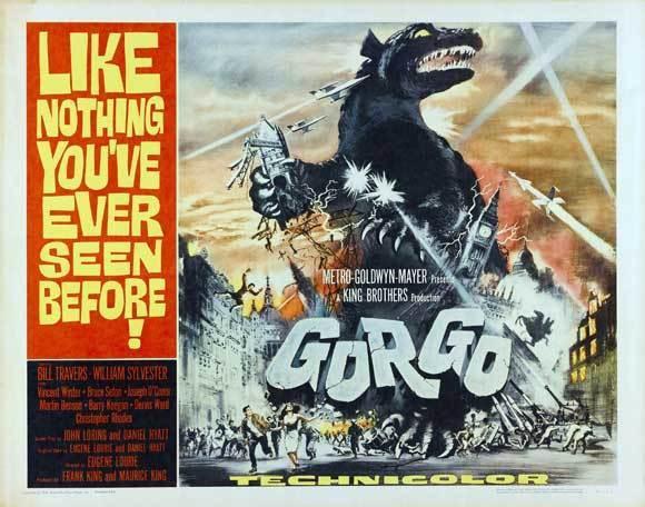GORGO Movie POSTER 30x40 Bill Travers William Sylvester Vincent Winter Bruce