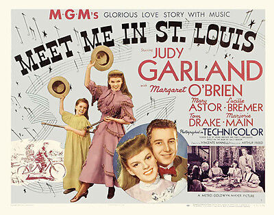MEET ME IN ST. LOUIS Movie POSTER 30x40 Judy Garland Margaret O'Brien Mary Astor