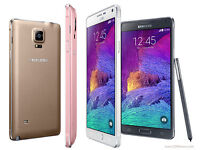 SAMSUNG GALAXY NOTE 4 WITH BOX AND ACCESSORIES ON WHOLESALE PRICE ALL COLORS AVAILABLE FROM DUBAI