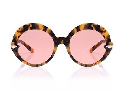 Karen Walker Romancer Sunglasses | Tortoise Shell, Pink Lense, Round  $350 RRP