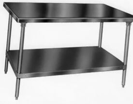 Stainless steel food work bench