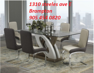 SALE!! SALE!! ON 7PCS  MODERN  DINING TABLE FOR $999