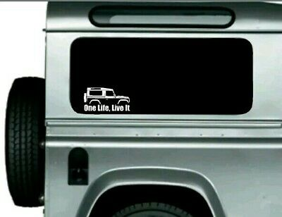 "5/"" X 3/"" SIZE. DIGITALLY CUT OUT OVAL VINYL STICKER LAND ROVER ONE LIFE.LIVE IT"