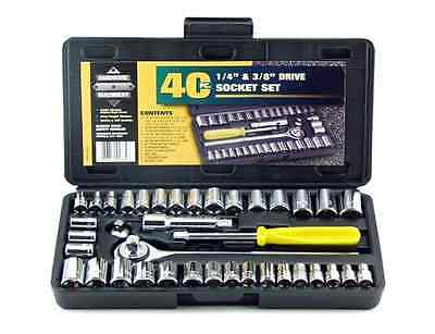 Car Drive Kit Set Hand Tools In Compact Box 40 Home Tool Piece Cheap Man (Compact Tool Set)