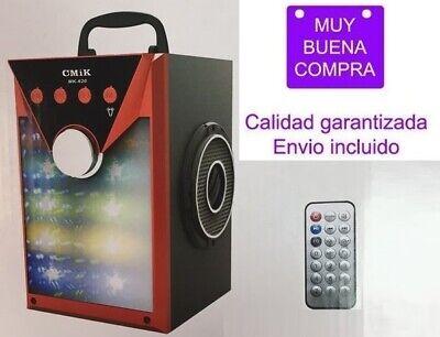 Altavoz portátil Bluetooth USB Con karaoke Mando a distancia Radio FM Tarjeta...
