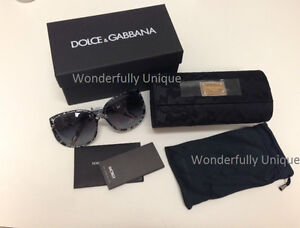 NEW AUTH DOLCE & GABBANA D&G 4116 1901/8G black gold lace ORIGINAL hard case