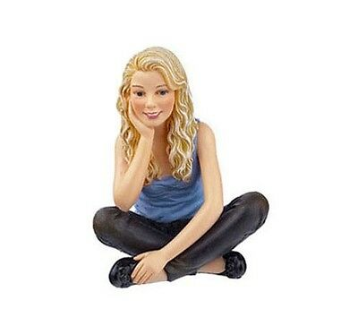 Dollhouse Miniature 1:12 Scale Modern Seated Teen Girl Doll #HW3025