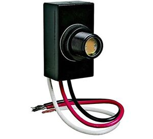 photocell sensor flush mount dusk dawn button photo control eye photocell 120v raintight
