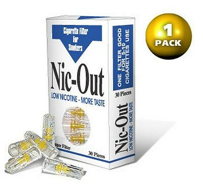 Nic Out Cigarette Filters - Removes Tar - Quit Smoking (30 filters per pack)