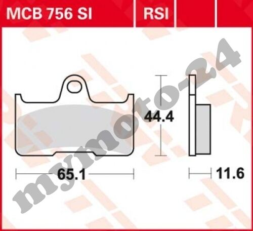 Bremsbelag TRW / Lucas MCB756SI, Sinter Offroad mit ABE