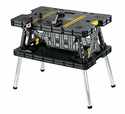 Folding Compact Work Bench Station Table Saw Horse Clamps Garage Construction