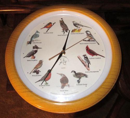 National Audubon Society Bird Clock Ebay