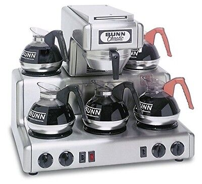Bunn Commercial Coffee Maker 12 Cup Rt W 5 Warmers - Stainless Steel - 20835-00