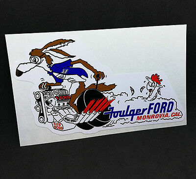 FOULGER FORD Vintage Style DECAL/Vinyl STICKER, drag racing,