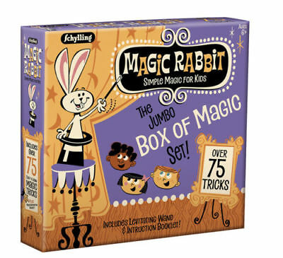 Jumbo BOX OF MAGIC 75 Trick Set Show Wand Card Learn Beginner Kit Kids - Magic Kit