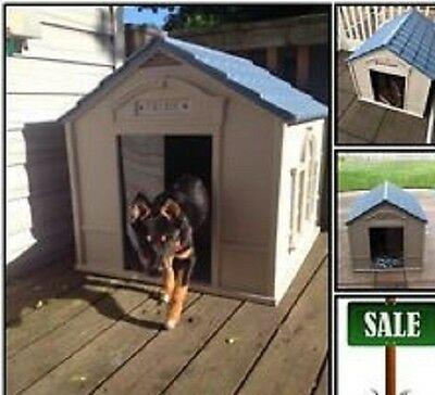Dog Houses For Large Dogs Extra Big Shelter Kennel Plastic Durable Outdoor New