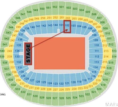 4 x Ed Sheeran Block 102 Row 7