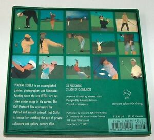 Golf Boxed Postcard Set by Artist Vincent Scilla London Ontario image 2