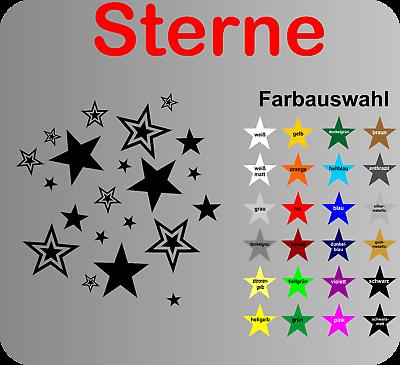 Sterne Aufkleber Wandtattoo Sticker Auto Küchenmaschine alle glatten Untergründe
