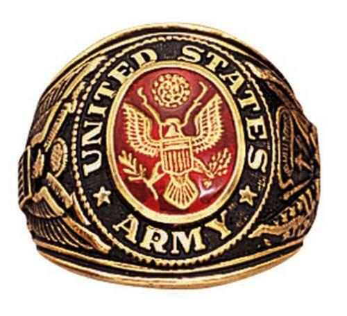Us Army Class Rings: US Army Ring Gold
