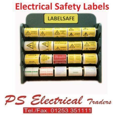 Electrical Safety Inspection Stickers : Electrical warning labels ebay