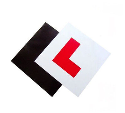 2 PACK PREMIUM FULLY MAGNETIC LEARNER DRIVER L PLATES FOR CAR BIKE